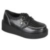 Creeper 113 Black Faux Leather